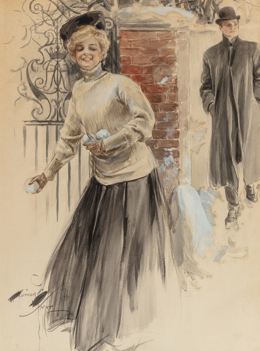 Not Yet -- But Soon, calendar illustration , 1907.