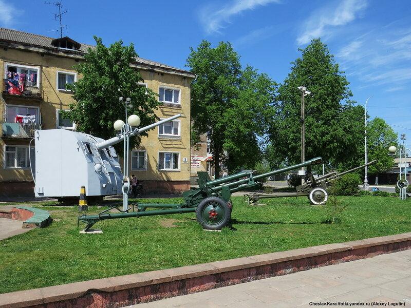 Боевая техника в Советске (Тильзите) бронетехника