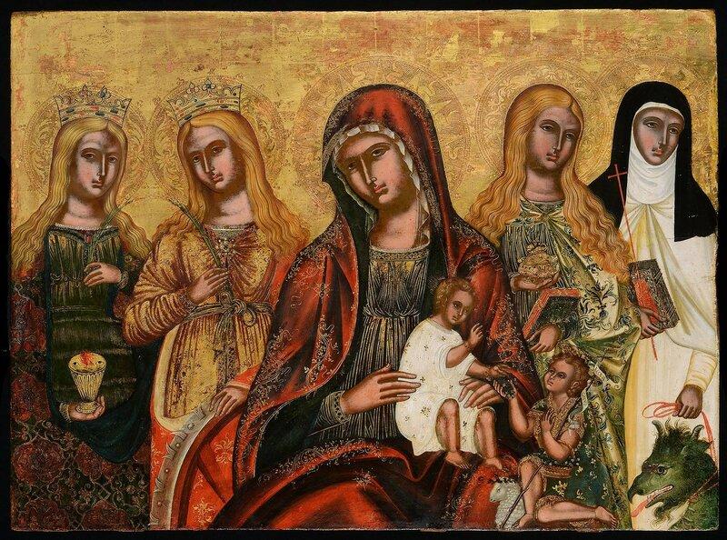 Божией Матери с четырьмя женскими святых