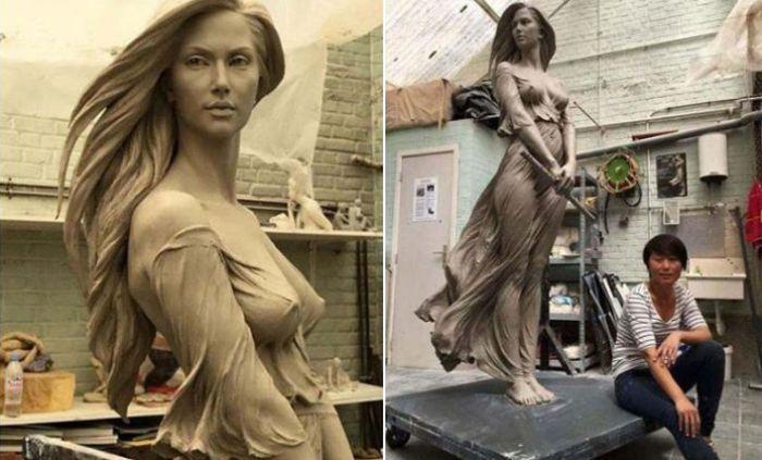 Поразительные скульптуры в стиле ню от китаянки Лу Ли Рон (16 фото) 18+