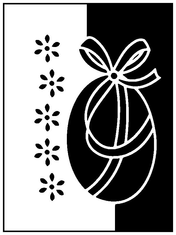 Шаблоны открыток для вырезания из бумаги к Пасхе