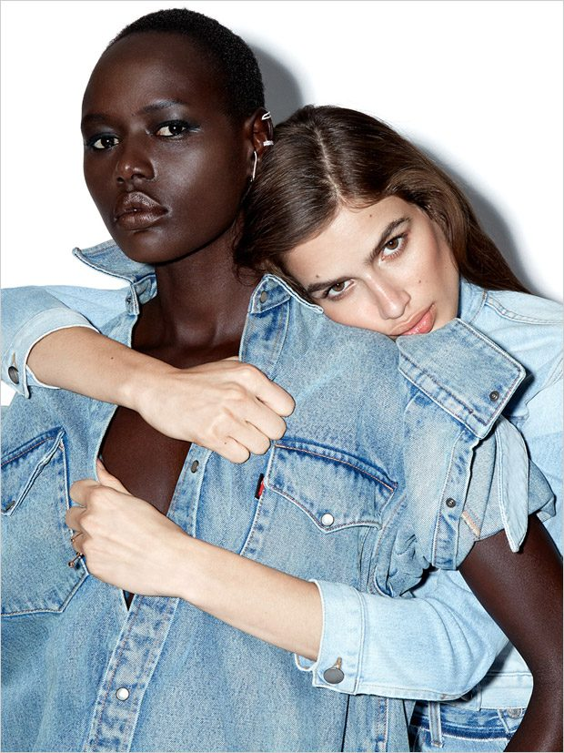 Girls, Girls, Girls: Ajak Deng & Linda Helena Pose for Claire Rothstein (18 pics)