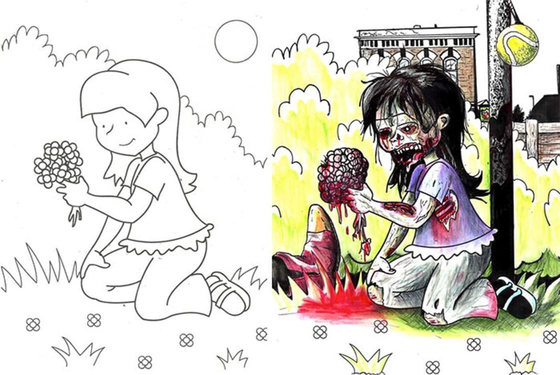 Quand les adultes jouent avec les livres de coloriage des enfants