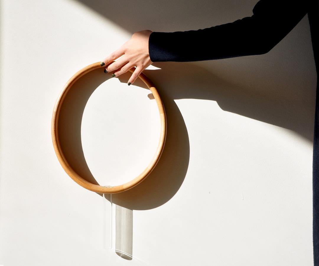 Vasos de madeira minimalistas para parede