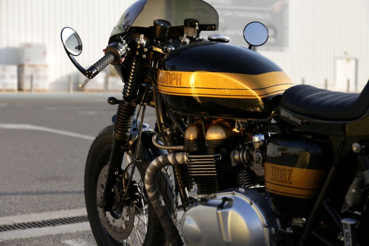 Tamarit Motorcycles: кафе рейсер Triumph Thruxton