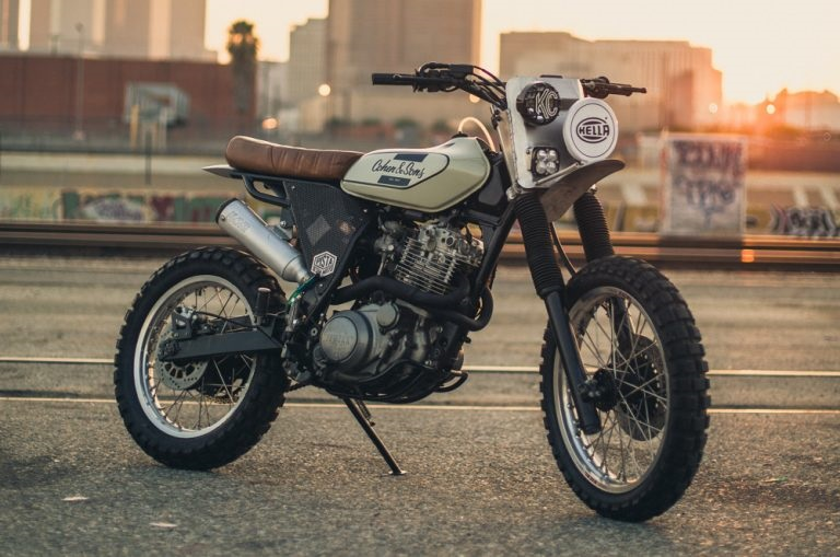 Pista Design: скрэмблер Yamaha XT600E Crooked Rooster