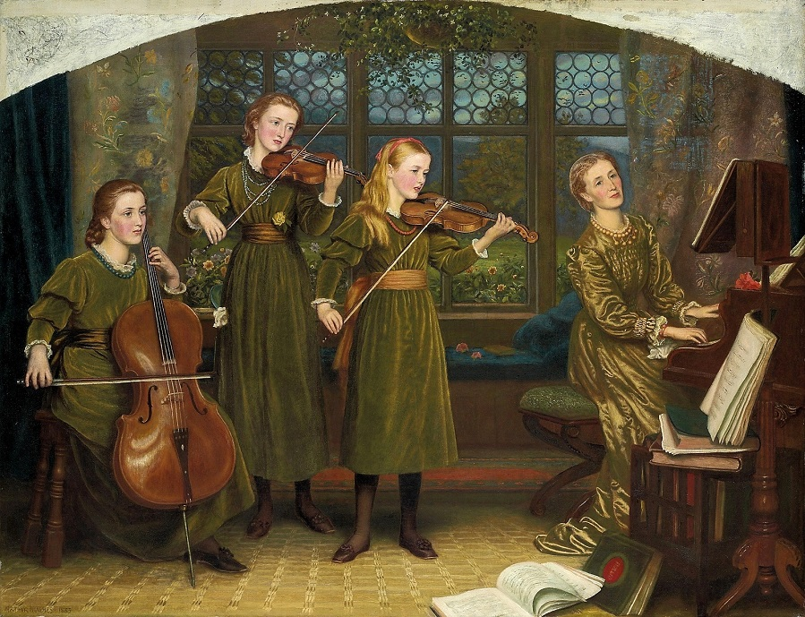 The Home Quartett, 1882 (Mrs.Vernon Lushington and her daughters).
