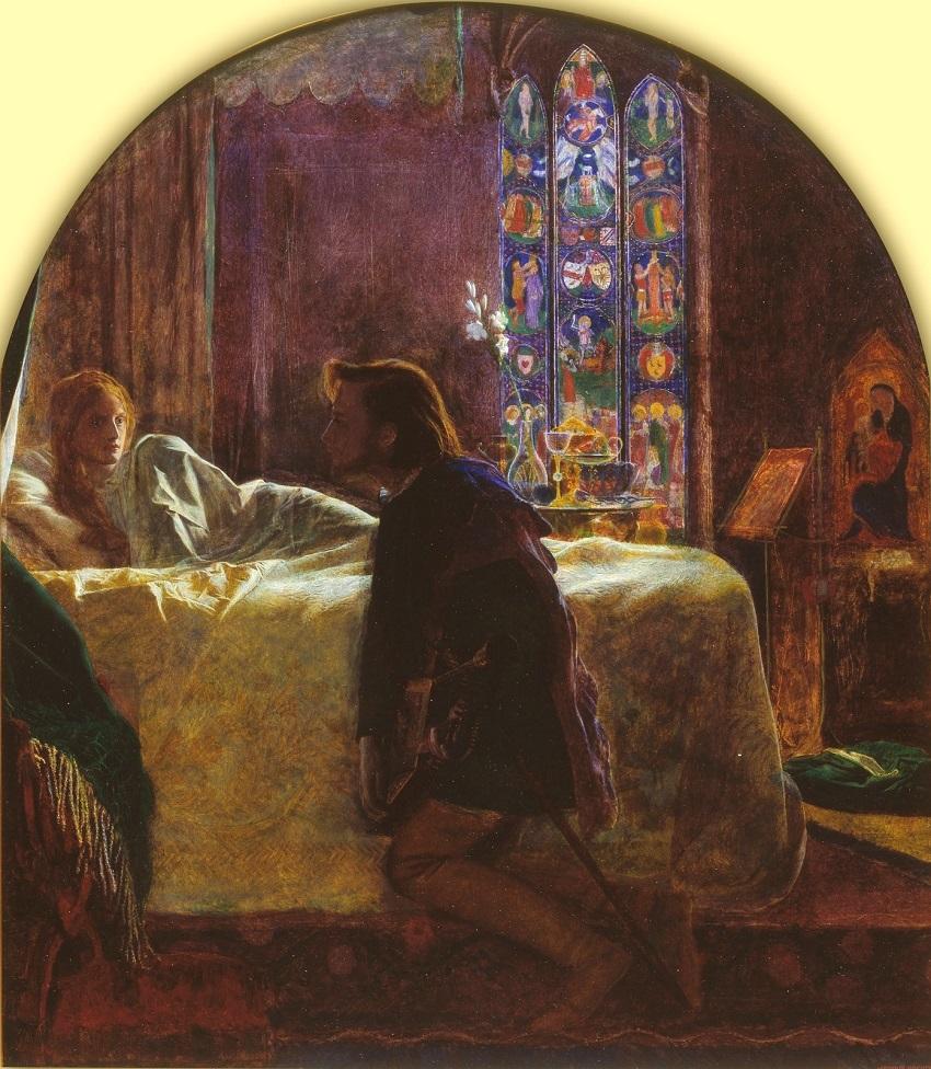 1856 Накануне прздника святой Агнессы (The Eve of St Agnes) Лондон, Музей Тейт (деталь)