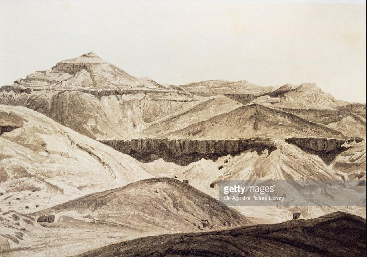 1841. Долина царей, древние Фивы