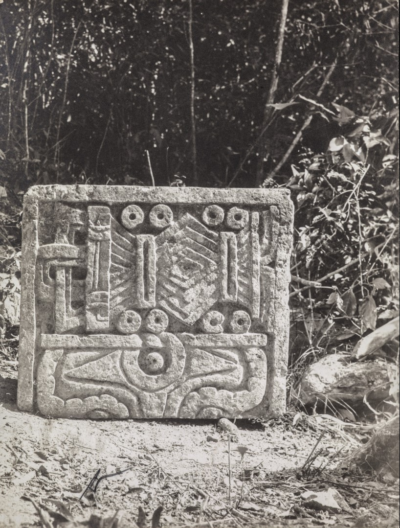 27. Рельефный камень в руинах майя. Чичен-Ица