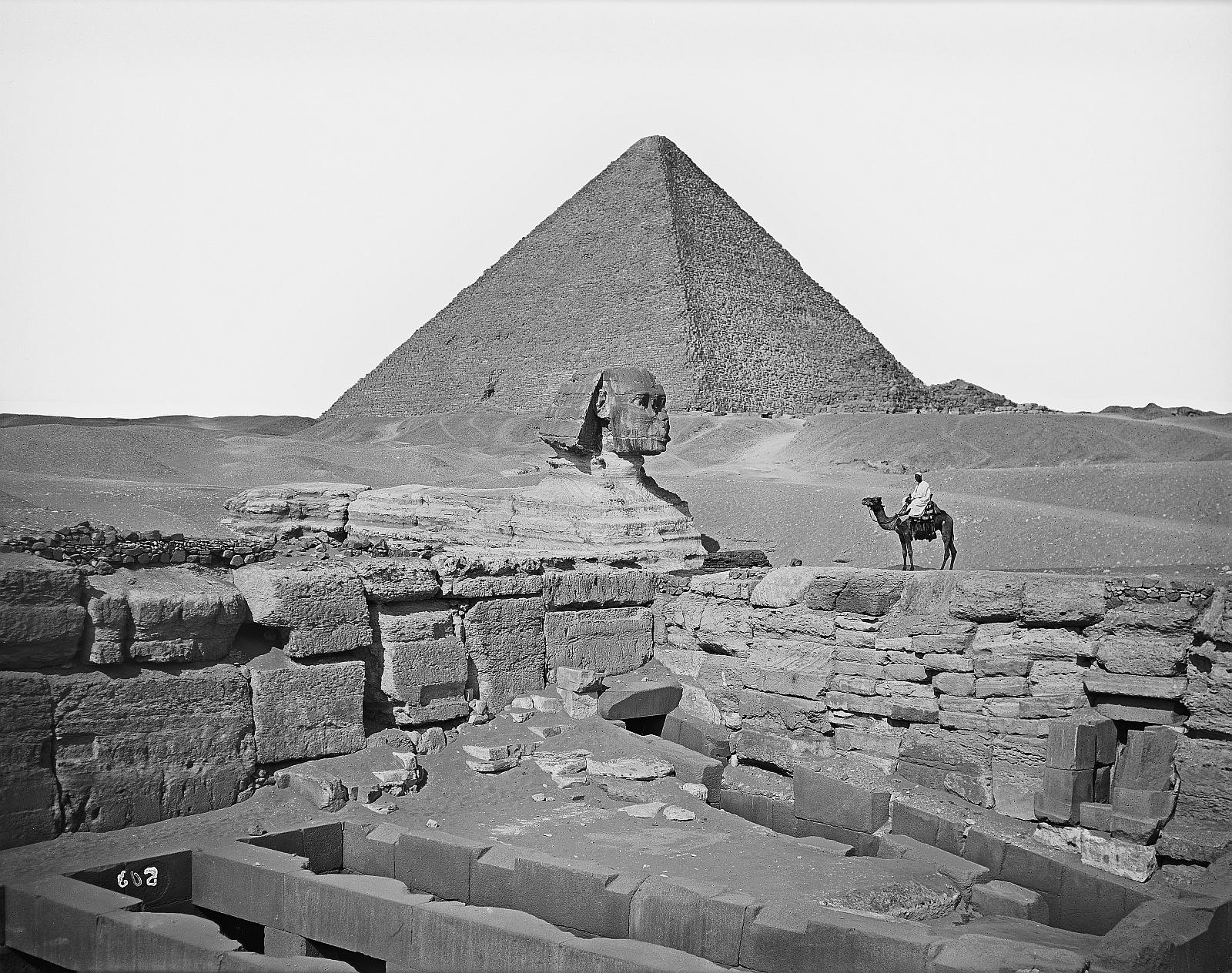 Гиза. Сфинкс, пирамиды Хефрена и Хеопса