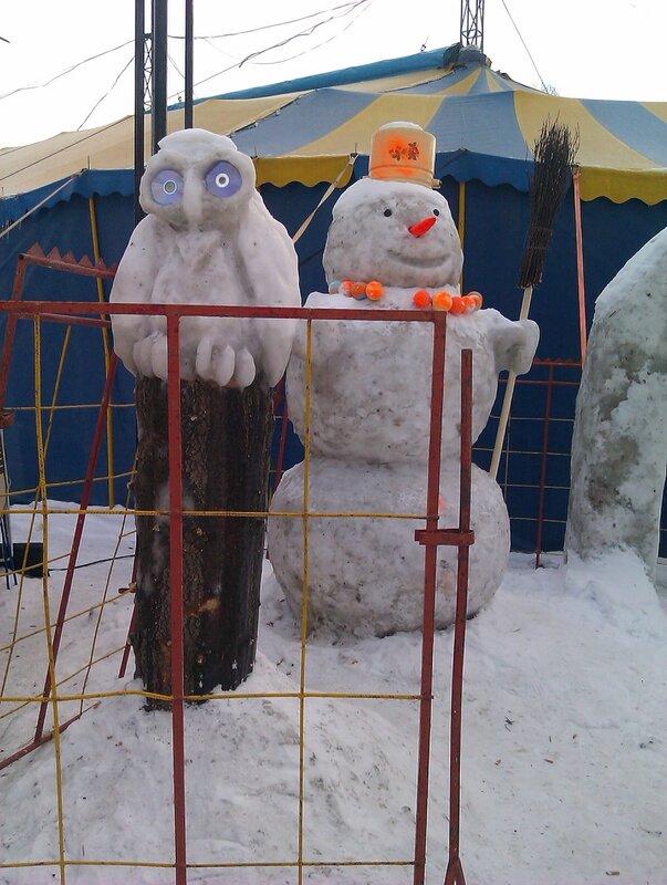Снеговик и сова