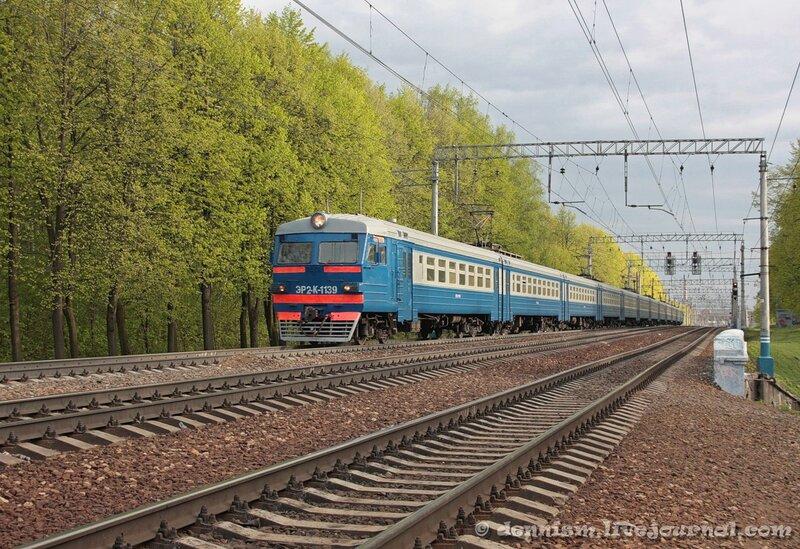 Электропоезд ЭР2К-1139, участок Мытищи - Строитель.