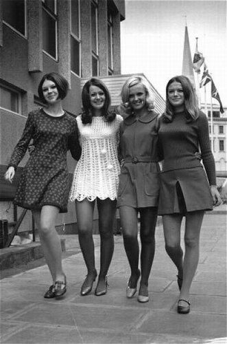 Мини юбки 60 70 х годов