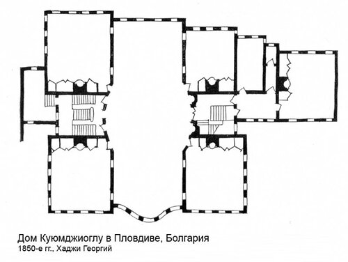 Дом Куюмджиоглу в Пловдиве, план
