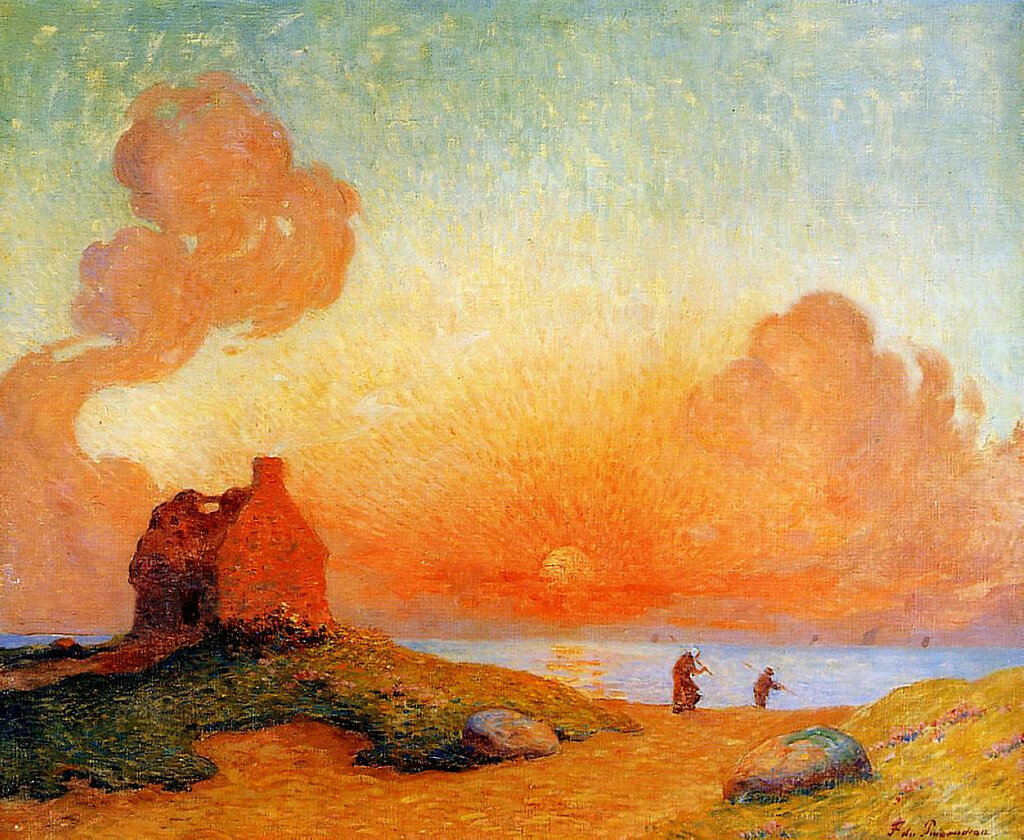 Ferdinand du Puigaudeau - Sunset by the Sea, Brittany, 1924-30.jpeg