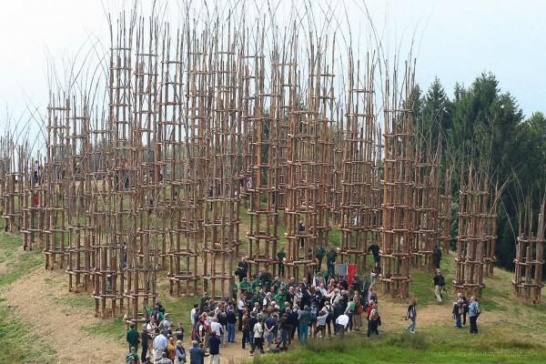 Arte Sella - выставки, арт-проекты, растущий храм