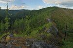 Вид с вершины горы Паук, Абаканский хребет Кузнецкого Алатау