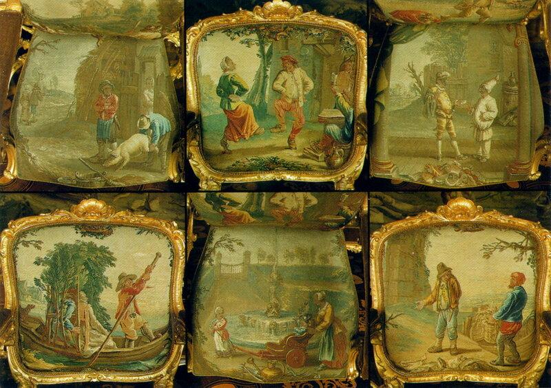 фрагменты Гобеленового зала (забавно, что знать любила такие сюжеты)