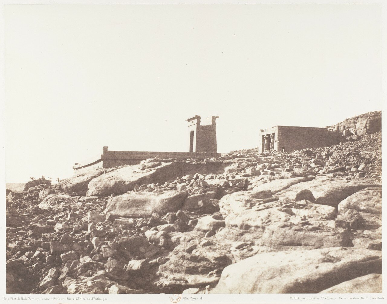 Дендера. Общий вид руин