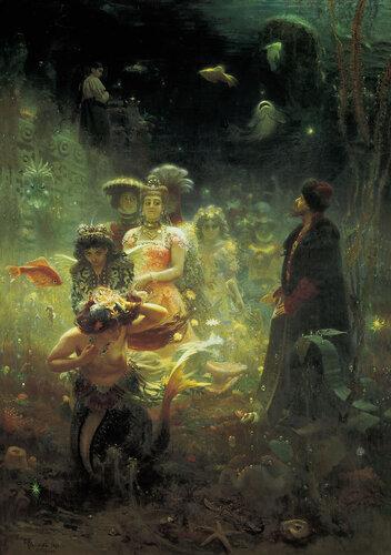 Илья Репин. Садко.1876. Холст, масло. 322,5 x 230. Государственный Русский Музей, Санкт Петербург, Россия.