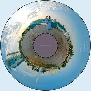 Наша планета Свадьба, микропланета, Ирина, город, день, свет, polar, coordinates