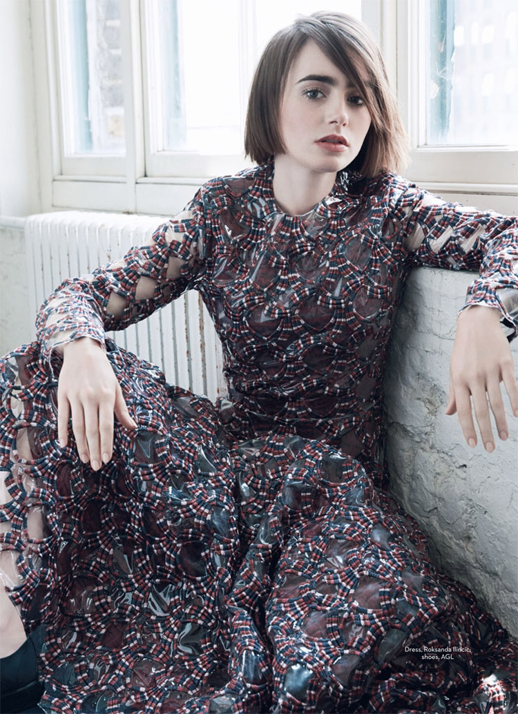Лили Коллинз (Lily Collins) в журнале Marie Claire UK