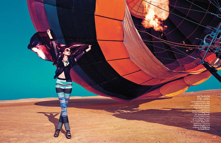 Sarah Pauley в апрельском Vogue India