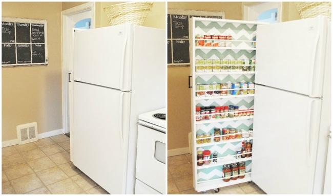 Идеальное решение для небольшой кухни— самодельный ящик для хранения консервированных продуктов. Сд