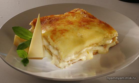 Лазанья с сыром и капустой