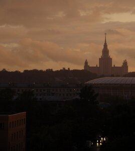 МГУ на закате