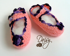 """Туфли """"Фиолетовый цветок"""""""