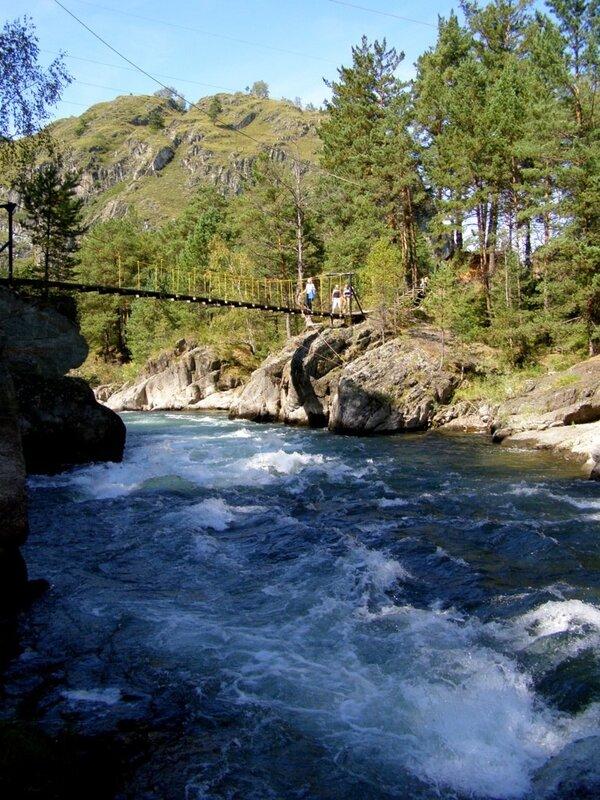 Река Чемал за Чемальской ГЭС