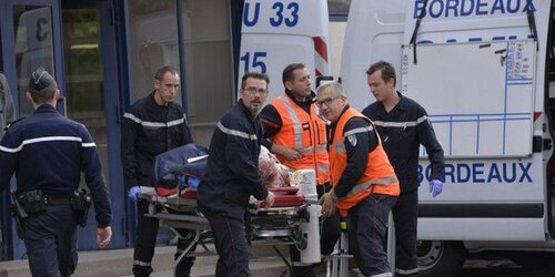 В сети появились фото с места крупнейшей аварии во Франции