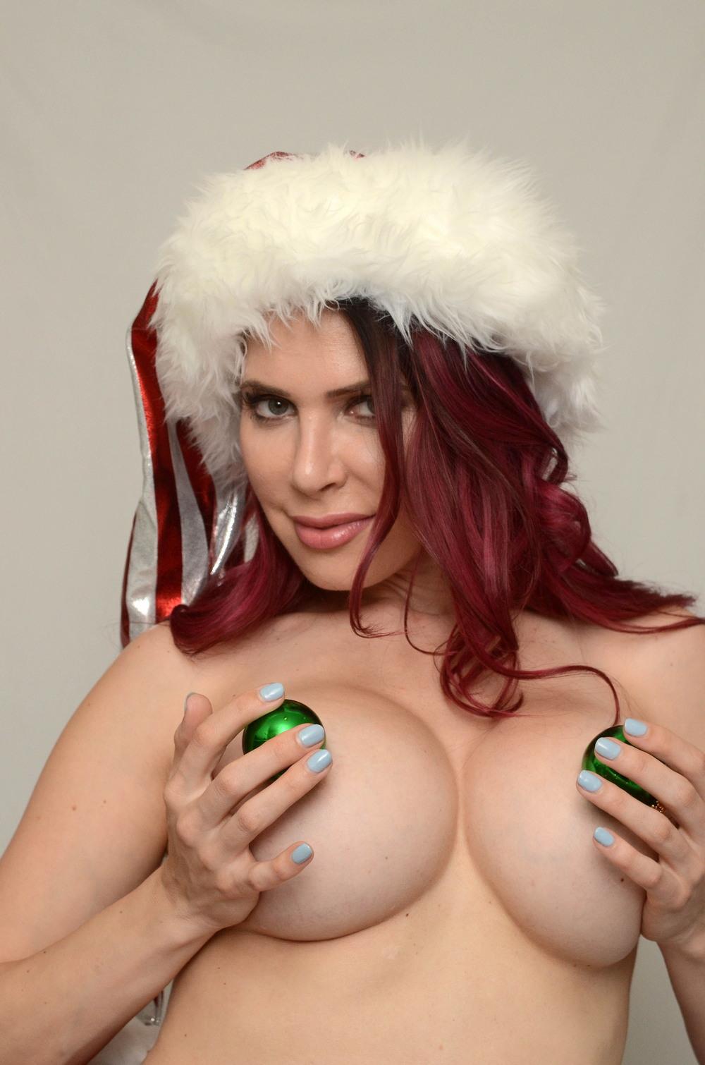 Эрика Джордан в рождественской фотосессии
