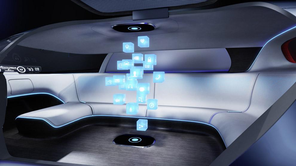 10. Еще один футуристический Мерседес — концепт F 015 Luxury in Motion (Роскошь в Движении). Беспило