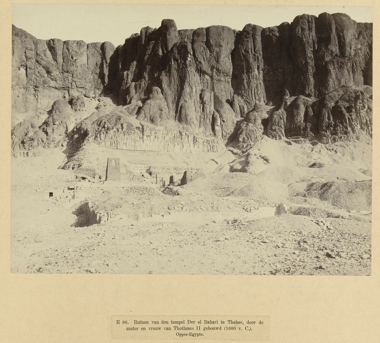 Фивы. Руины храма Хатшепсут в Дер-эль-Бахри