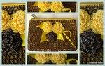 цветы. аксессуары. крючок. косметичка.  Материалы: нитки YarnArt TULIP, Microfiber и Maya Madame Tricote, полиэстер...