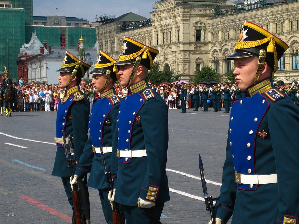Церемониальный развод караулов Президентского полка