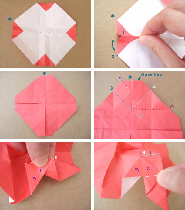 Техника сворачивания бумажной