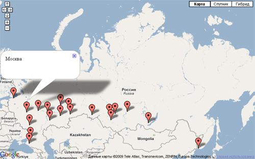 карта регионов