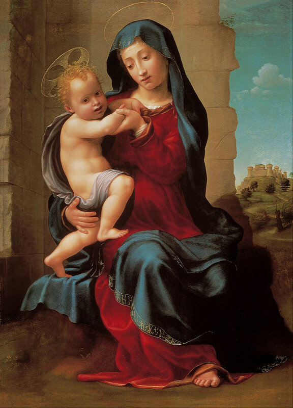 737px-Giuliano_Bugiardini_-_Virgin_and_child_-_Google_Art_Projectок1530.jpg
