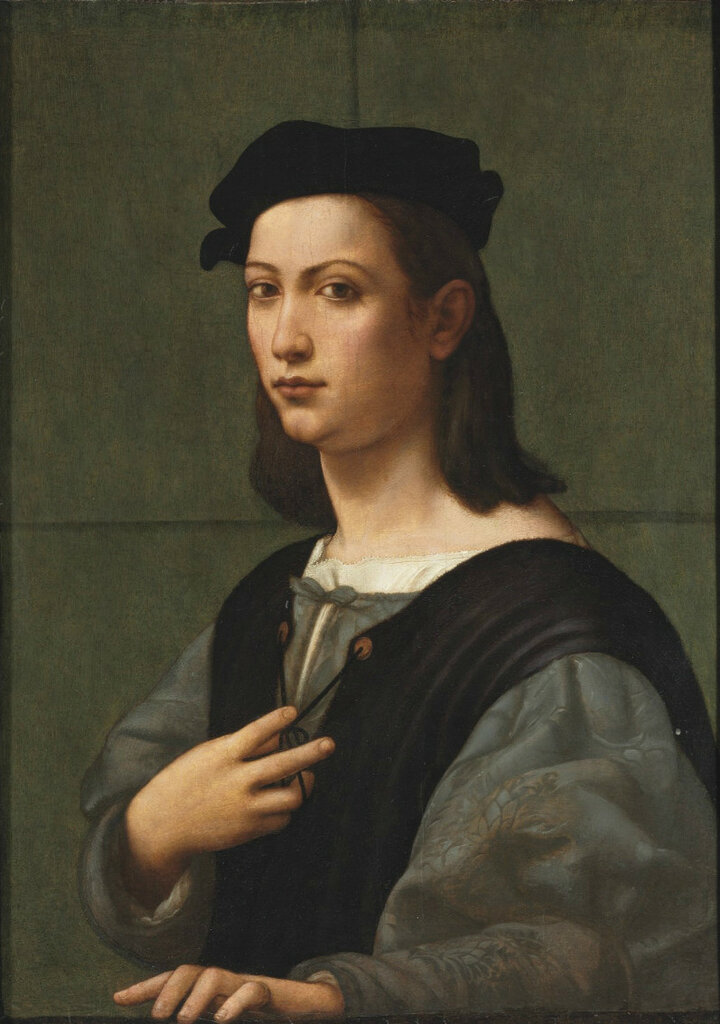 Giuliano_Bugiardini_-_Portrait_of_a_young_gentleman,_half-length,_in_a_blue_doublet_and_white_shirt,_with_a_black_hat.jpg