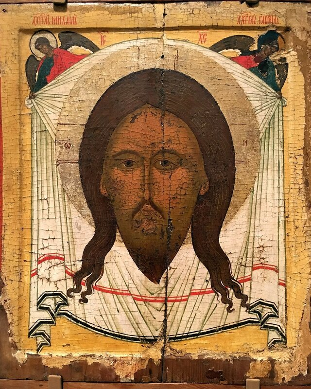 Спас Нерукотворный. Икона. Новгород, XVI век.