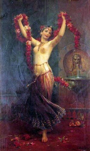 Hans Zatzka (1859 – 1949, Austrian)  The Harem Dancer