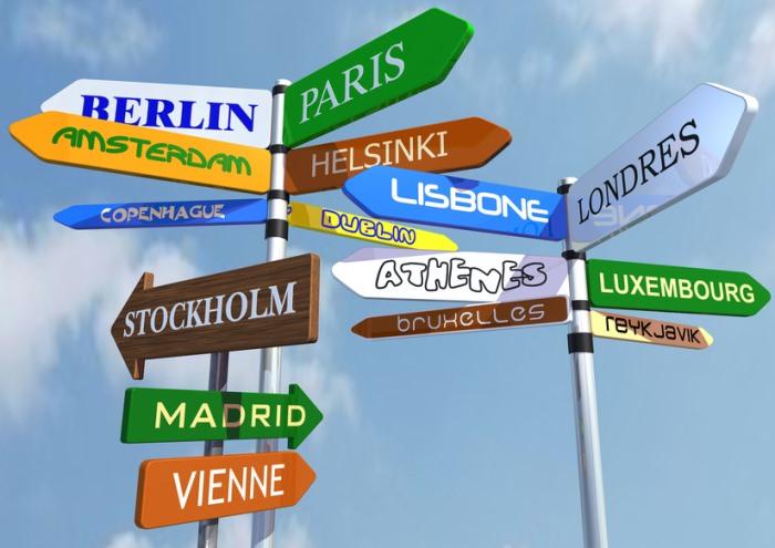Международный день переводчика. Указатели европейских городов