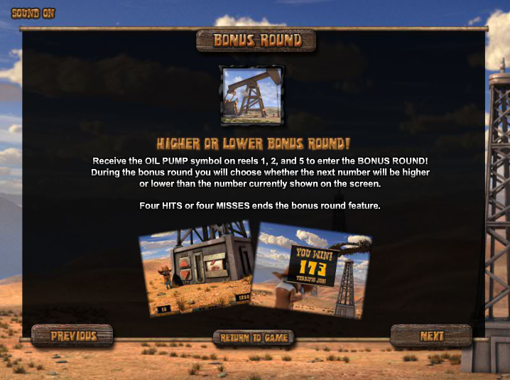 black gold slot bonus round