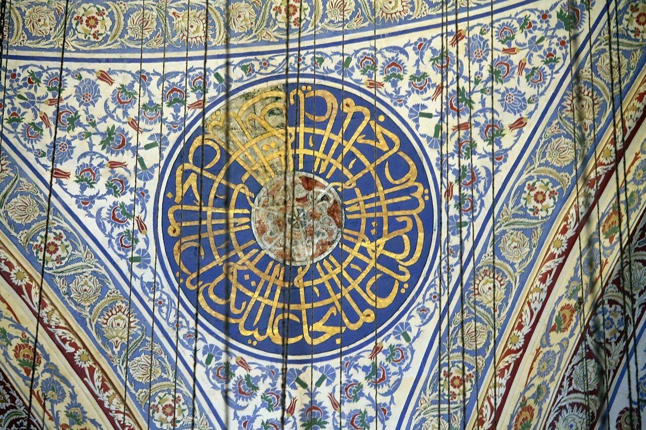 Стамбул. Мечеть Султана Ахмета, Голубая мечеть (Sultan Ahmet Camii). Интерьеры