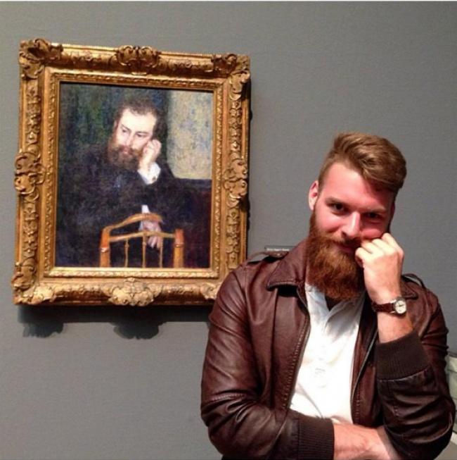 © imgur      4. Друзья нашли вшотландском музее эту картину икупили еедля Вилли