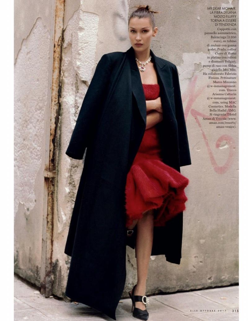 Белла Хадид в кавер-стори итальянского ELLE
